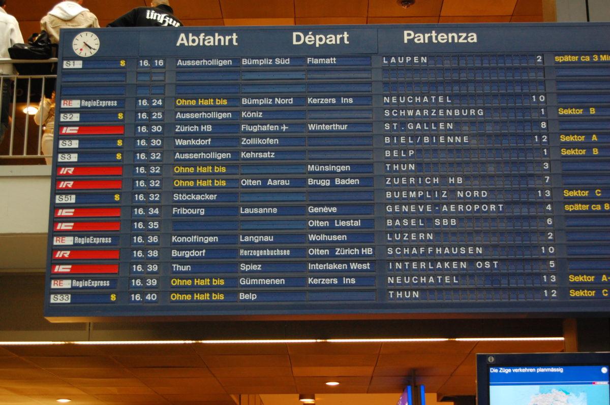 SBB setzt ab Montag einen reduzierten Fahrplan ein. Das Grundangebot soll allerdings aufrecht erhalten bleiben, lässt die SBB verlauten.