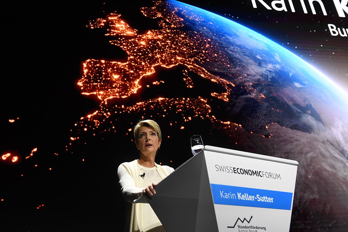SEF 2021: Karin Keller-Sutter wünscht sich politisch aktivere Unternehmerinnen und Unternehmer